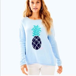"NWT LILLY PULITZER PINEAPPLE ""ROSELLE"" SWEATER -XS"